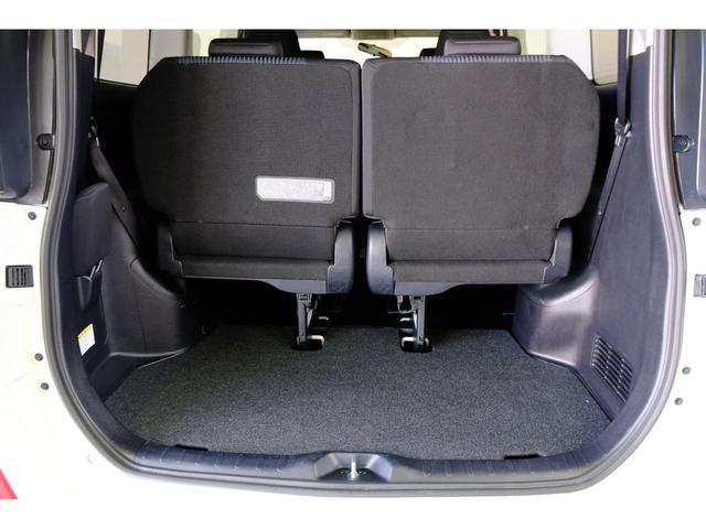 荷室は可倒式になっておりますので、大きい荷物も載せることが出来ます。