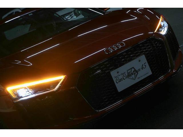 V10クーペ 5.2FSIクワトロ 正規ディーラー車 各所グロスブラック塗分 アクラポビッチマフラー KW車高調 外装スペシャルオーダーカラー ダイヤモンドキルティングレッドステッチ カーボンサイドブレード デコラティブカーボンパネル(78枚目)