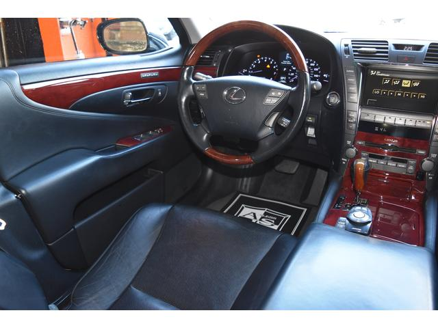 米国レクサス レクサス LS460 ヴァルドエアロ ワーク20AW 車高調 黒革 SR HDD