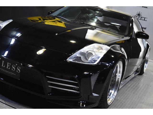 米国日産 フェアレディ 左ハン 新品フルエアロ 新品車高調 20AW 黒革張替シート