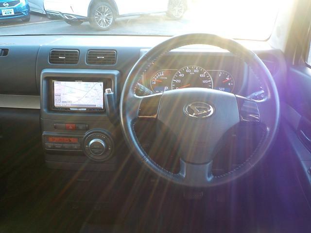 カスタム G 社外HDDナビフルセグTV CD DVD MSV ETC スマートキー HID 純正14インチアルミ タイミングチェーン車(9枚目)