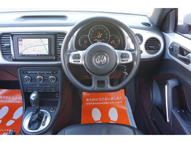 フォルクスワーゲン VW ザ・ビートル デザインレザーパッケージ 黒革シート社外ナビバックカメラ