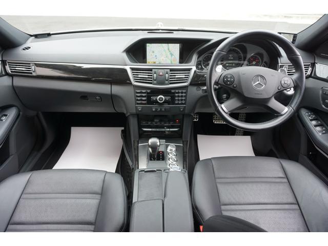 E63 AMG 買取車黒革シート専用スポイラー純正HDDナビ(3枚目)