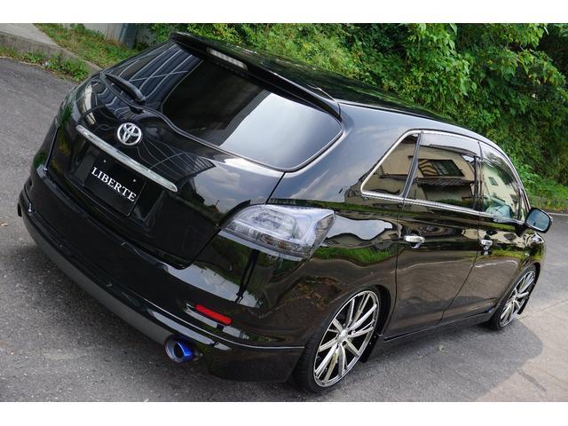 トヨタ マークXジオ LIBERTEコンプリート フルエアロ 車高調19AW黒革調