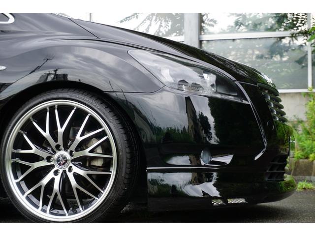 240G LIBERTEコンプリート 新品フルエアロ 新品車高調 新品19AW 新品黒革調 BLACKヘッド&フォグランプワンオフ加工 大型イルミレーション LEDスモークテールランプ チタンルックテールエンド(12枚目)