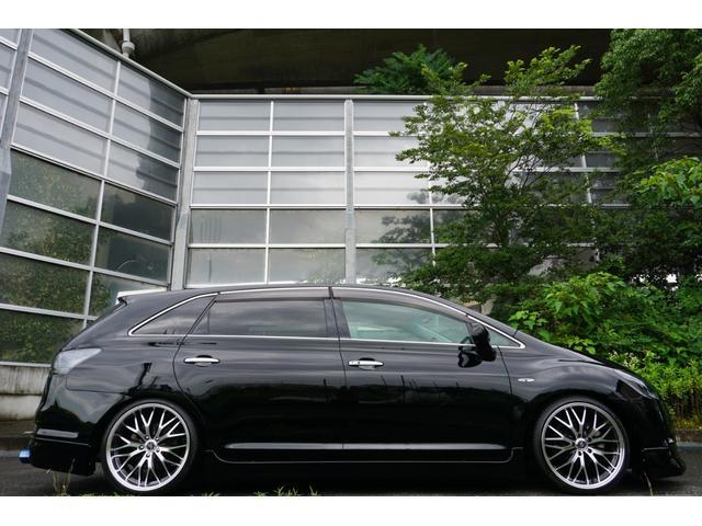 240G LIBERTEコンプリート 新品フルエアロ 新品車高調 新品19AW 新品黒革調 BLACKヘッド&フォグランプワンオフ加工 大型イルミレーション LEDスモークテールランプ チタンルックテールエンド(15枚目)