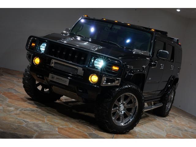 グリルガード LEDヘッド EliteMax22AW マッドタイヤ Bassani2本出しマフラー サンルーフ バネサス サイドステップ バックカメラ イエローフォグ ACパネル移設 3列シート(9枚目)