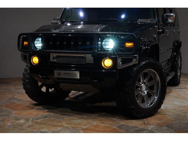 グリルガード LEDヘッド EliteMax22AW マッドタイヤ Bassani2本出しマフラー サンルーフ バネサス サイドステップ バックカメラ イエローフォグ ACパネル移設 3列シート(10枚目)