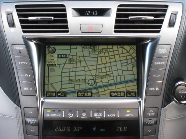 LS600hL後席セパレートシートPG 4WDエアロ20AW(11枚目)