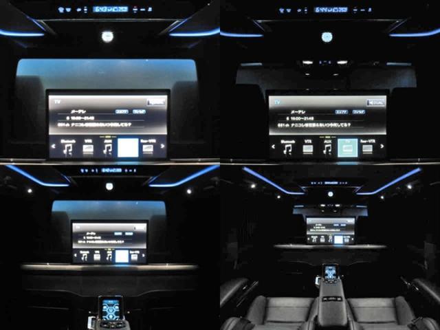 ●ロイヤルラウンジ専用リヤエンターテイメントシステム(24型液晶ディスプレイ・JBLプレミアムサウンドシステムforロイヤルラウンジ)●液晶調光シェード(リヤクォーターガラス)●専用エンブレム