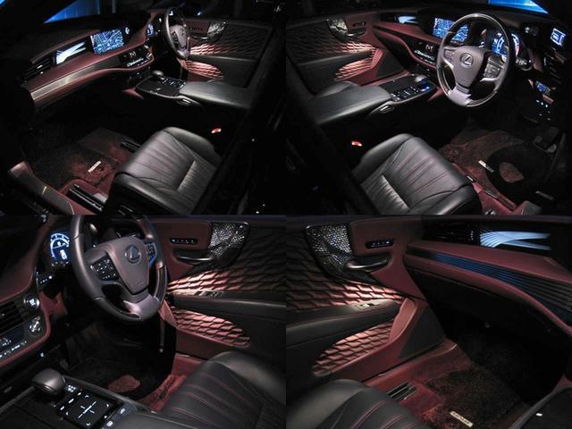 LS500 エグゼクティブ 4WD 切子調カットガラスハンドプリーツ電動サンルーフ寒冷地モデリスタエアロキットTRDリヤスポOP20AWリラクゼーションシートリヤエンタマークレビン23SPマルチオペレーションパネルクールボックス(75枚目)