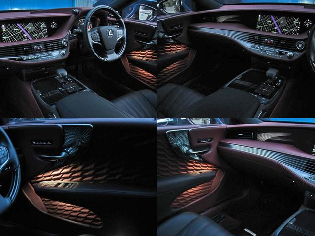 LS500 エグゼクティブ 4WD 切子調カットガラスハンドプリーツ電動サンルーフ寒冷地モデリスタエアロキットTRDリヤスポOP20AWリラクゼーションシートリヤエンタマークレビン23SPマルチオペレーションパネルクールボックス(76枚目)