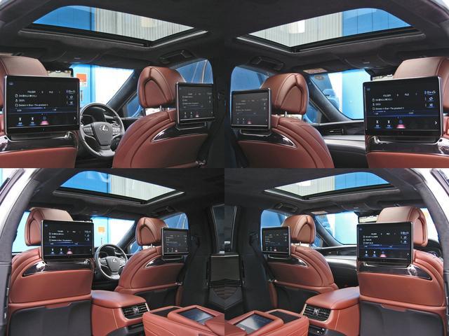 LS500h エグゼクティブ 4WD レクサスセーフティシステムA電動サンルーフL-ANILINE本革シートリヤエンターテイメントマークレビンソン23SP温感リラクゼーションBSMパノラミックビュMデジタルインナミラパワートランク(53枚目)