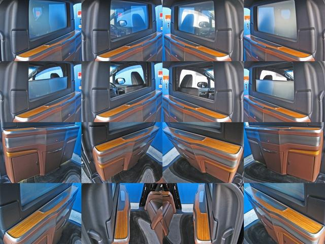 ロイヤルラウンジSP 4WDモデリスタパーソナルカスタマイズサドルタンバンブー本杢フルパーテーションエクストラキャビネット冷蔵庫リヤエンターテイメント24型ディスプレイ後席リラクゼーションシート集中コントロールタッチパネル(27枚目)