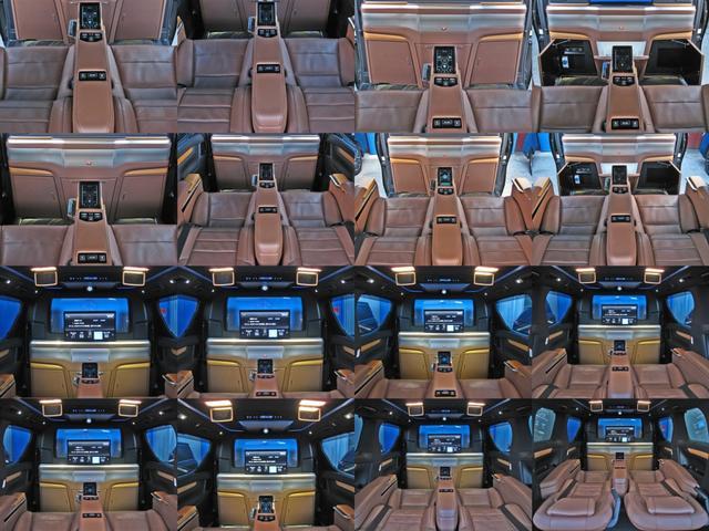 ロイヤルラウンジSP 4WDモデリスタパーソナルカスタマイズサドルタンバンブー本杢フルパーテーションエクストラキャビネット冷蔵庫リヤエンターテイメント24型ディスプレイ後席リラクゼーションシート集中コントロールタッチパネル(32枚目)