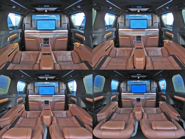 ロイヤルラウンジSP 4WDモデリスタパーソナルカスタマイズサドルタンバンブー本杢フルパーテーションエクストラキャビネット冷蔵庫リヤエンターテイメント24型ディスプレイ後席リラクゼーションシート集中コントロールタッチパネル(39枚目)