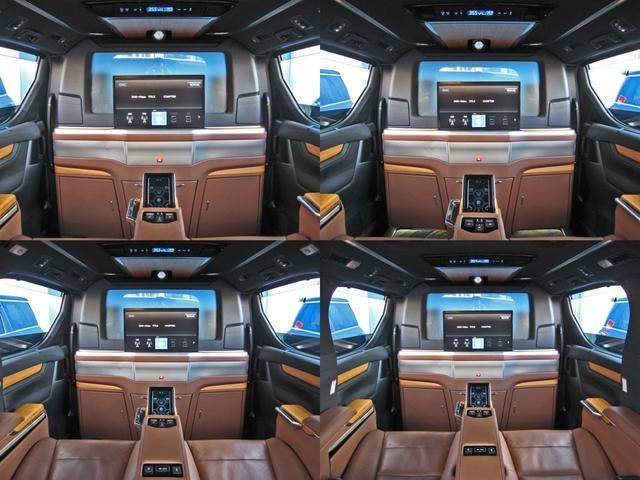 ロイヤルラウンジSP 4WDモデリスタパーソナルカスタマイズサドルタンバンブー本杢フルパーテーションエクストラキャビネット冷蔵庫リヤエンターテイメント24型ディスプレイ後席リラクゼーションシート集中コントロールタッチパネル(40枚目)