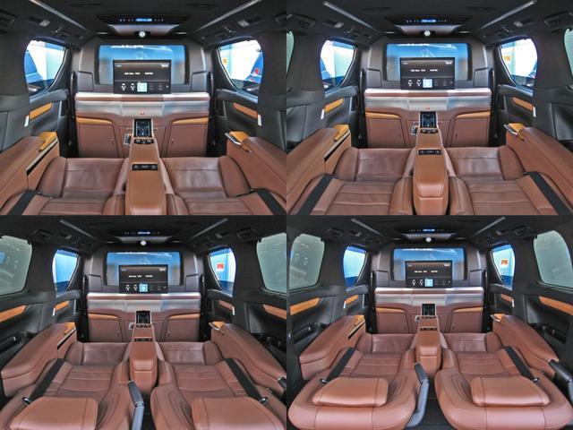 ロイヤルラウンジSP 4WDモデリスタパーソナルカスタマイズサドルタンバンブー本杢フルパーテーションエクストラキャビネット冷蔵庫リヤエンターテイメント24型ディスプレイ後席リラクゼーションシート集中コントロールタッチパネル(41枚目)