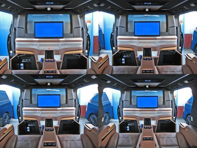 ロイヤルラウンジSP 4WDモデリスタパーソナルカスタマイズサドルタンバンブー本杢フルパーテーションエクストラキャビネット冷蔵庫リヤエンターテイメント24型ディスプレイ後席リラクゼーションシート集中コントロールタッチパネル(42枚目)