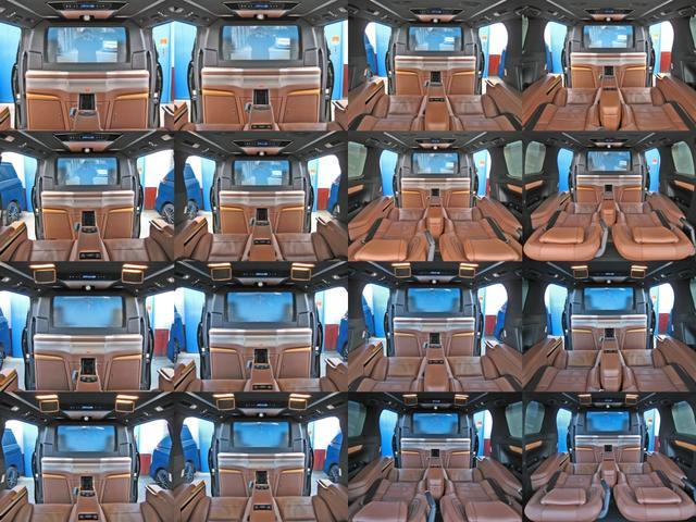 ロイヤルラウンジSP 4WDモデリスタパーソナルカスタマイズサドルタンバンブー本杢フルパーテーションエクストラキャビネット冷蔵庫リヤエンターテイメント24型ディスプレイ後席リラクゼーションシート集中コントロールタッチパネル(45枚目)