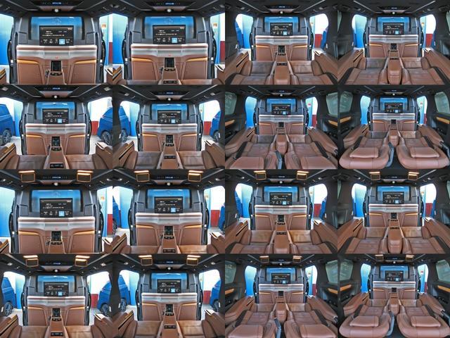 ロイヤルラウンジSP 4WDモデリスタパーソナルカスタマイズサドルタンバンブー本杢フルパーテーションエクストラキャビネット冷蔵庫リヤエンターテイメント24型ディスプレイ後席リラクゼーションシート集中コントロールタッチパネル(47枚目)
