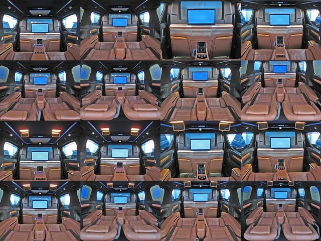 ロイヤルラウンジSP 4WDモデリスタパーソナルカスタマイズサドルタンバンブー本杢フルパーテーションエクストラキャビネット冷蔵庫リヤエンターテイメント24型ディスプレイ後席リラクゼーションシート集中コントロールタッチパネル(51枚目)