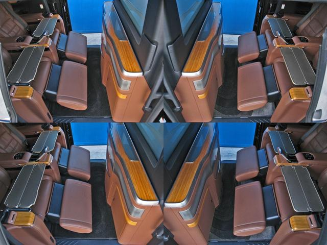 ロイヤルラウンジSP 4WDモデリスタパーソナルカスタマイズサドルタンバンブー本杢フルパーテーションエクストラキャビネット冷蔵庫リヤエンターテイメント24型ディスプレイ後席リラクゼーションシート集中コントロールタッチパネル(76枚目)