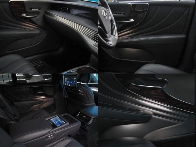 LS500h エグゼクティブ 4WD リヤエンターテイメントリラクゼーションシートセーフティセンスAマークレビンソン23SPヘッドアップディスプレイパワートランクマルチオペレーションパネルアートウッドオーナメントパネルOP20AW(54枚目)