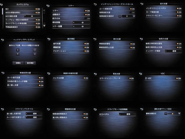 ハイブリッド GT タイプSP プロパイロット2.0ドライバーモニタヘッドアップディスプレイ車線逸脱防止レーダークルーズ踏間違衝突防止ブラインドスポットMエマージェンシB電動サンルーフBOSEサウンド16SP黒本革シートパドルシフト(35枚目)