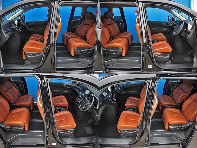 350ハイウェイスタージェットブラックアーバンクロム 踏み間違い衝突防止アシストインテリジェントクルーズ&ブレーキアシストプレミアムタンレザーシートHDDナビ後席エンターテイメントアラウンドビュモニタクリアランスソナパワーバック両電ドアポジションメモリ(78枚目)