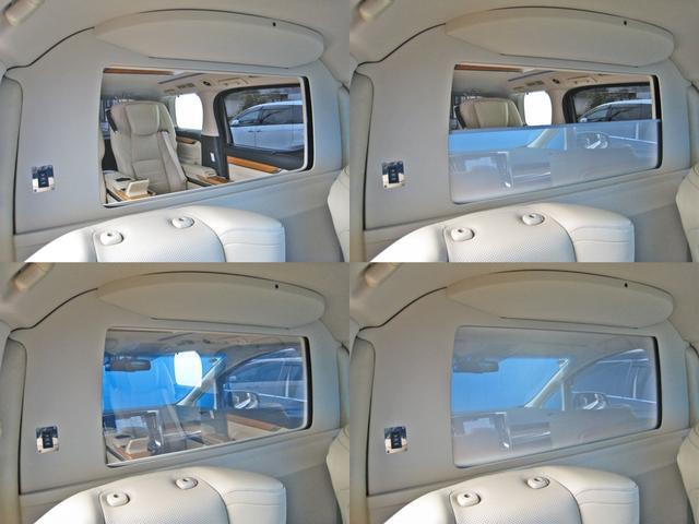 ロイヤルラウンジSP 4WD フルパーテーション液晶調光リヤシェードエクストラキャビネット冷蔵庫リヤエンターテイメント24型TVロイヤルラウンジ専用VIPリラクゼーションシート集中コントロールタッチパネルモデリスタエアロ(19枚目)