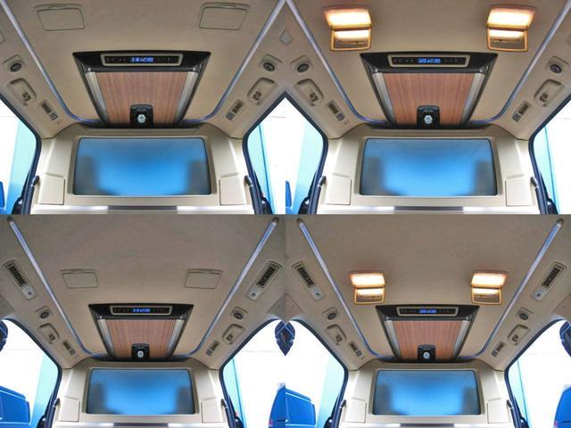 ロイヤルラウンジSP 4WD フルパーテーション液晶調光リヤシェードエクストラキャビネット冷蔵庫リヤエンターテイメント24型TVロイヤルラウンジ専用VIPリラクゼーションシート集中コントロールタッチパネルモデリスタエアロ(28枚目)