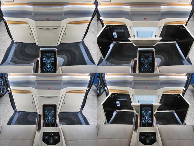 ロイヤルラウンジSP 4WD フルパーテーション液晶調光リヤシェードエクストラキャビネット冷蔵庫リヤエンターテイメント24型TVロイヤルラウンジ専用VIPリラクゼーションシート集中コントロールタッチパネルモデリスタエアロ(37枚目)