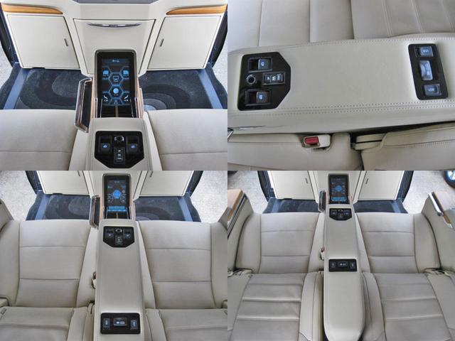 ロイヤルラウンジSP 4WD フルパーテーション液晶調光リヤシェードエクストラキャビネット冷蔵庫リヤエンターテイメント24型TVロイヤルラウンジ専用VIPリラクゼーションシート集中コントロールタッチパネルモデリスタエアロ(40枚目)