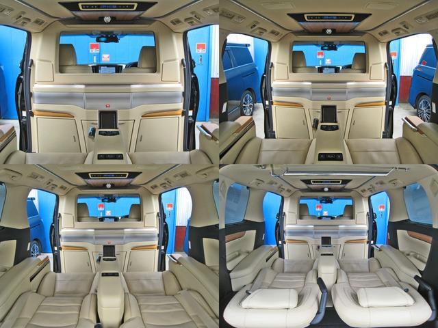 ロイヤルラウンジSP 4WD フルパーテーション液晶調光リヤシェードエクストラキャビネット冷蔵庫リヤエンターテイメント24型TVロイヤルラウンジ専用VIPリラクゼーションシート集中コントロールタッチパネルモデリスタエアロ(41枚目)