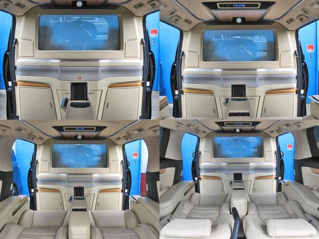 ロイヤルラウンジSP 4WD フルパーテーション液晶調光リヤシェードエクストラキャビネット冷蔵庫リヤエンターテイメント24型TVロイヤルラウンジ専用VIPリラクゼーションシート集中コントロールタッチパネルモデリスタエアロ(42枚目)