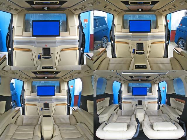 ロイヤルラウンジSP 4WD フルパーテーション液晶調光リヤシェードエクストラキャビネット冷蔵庫リヤエンターテイメント24型TVロイヤルラウンジ専用VIPリラクゼーションシート集中コントロールタッチパネルモデリスタエアロ(43枚目)