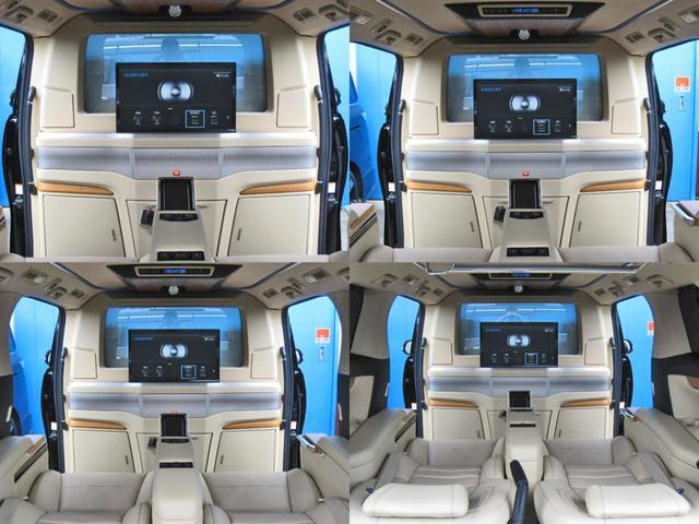ロイヤルラウンジSP 4WD フルパーテーション液晶調光リヤシェードエクストラキャビネット冷蔵庫リヤエンターテイメント24型TVロイヤルラウンジ専用VIPリラクゼーションシート集中コントロールタッチパネルモデリスタエアロ(44枚目)