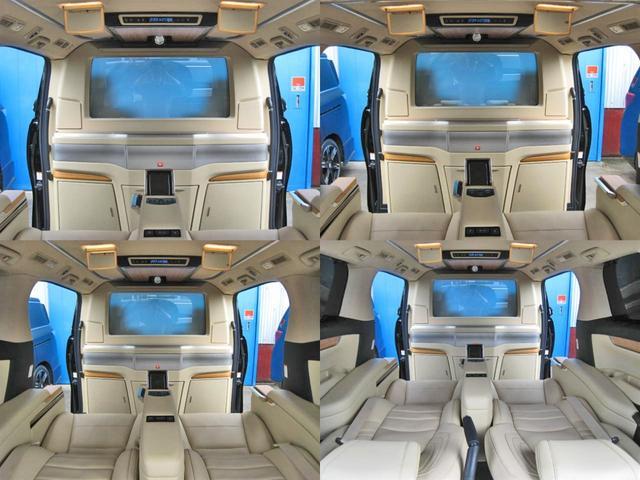 ロイヤルラウンジSP 4WD フルパーテーション液晶調光リヤシェードエクストラキャビネット冷蔵庫リヤエンターテイメント24型TVロイヤルラウンジ専用VIPリラクゼーションシート集中コントロールタッチパネルモデリスタエアロ(46枚目)