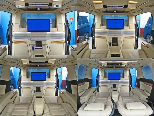 ロイヤルラウンジSP 4WD フルパーテーション液晶調光リヤシェードエクストラキャビネット冷蔵庫リヤエンターテイメント24型TVロイヤルラウンジ専用VIPリラクゼーションシート集中コントロールタッチパネルモデリスタエアロ(47枚目)