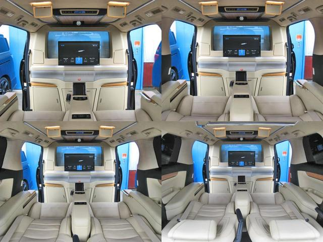 ロイヤルラウンジSP 4WD フルパーテーション液晶調光リヤシェードエクストラキャビネット冷蔵庫リヤエンターテイメント24型TVロイヤルラウンジ専用VIPリラクゼーションシート集中コントロールタッチパネルモデリスタエアロ(48枚目)