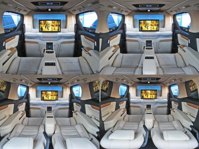 ロイヤルラウンジSP 4WD フルパーテーション液晶調光リヤシェードエクストラキャビネット冷蔵庫リヤエンターテイメント24型TVロイヤルラウンジ専用VIPリラクゼーションシート集中コントロールタッチパネルモデリスタエアロ(52枚目)