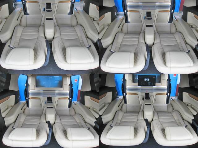 ロイヤルラウンジSP 4WD フルパーテーション液晶調光リヤシェードエクストラキャビネット冷蔵庫リヤエンターテイメント24型TVロイヤルラウンジ専用VIPリラクゼーションシート集中コントロールタッチパネルモデリスタエアロ(60枚目)