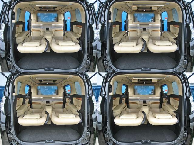 ロイヤルラウンジSP 4WD フルパーテーション液晶調光リヤシェードエクストラキャビネット冷蔵庫リヤエンターテイメント24型TVロイヤルラウンジ専用VIPリラクゼーションシート集中コントロールタッチパネルモデリスタエアロ(62枚目)