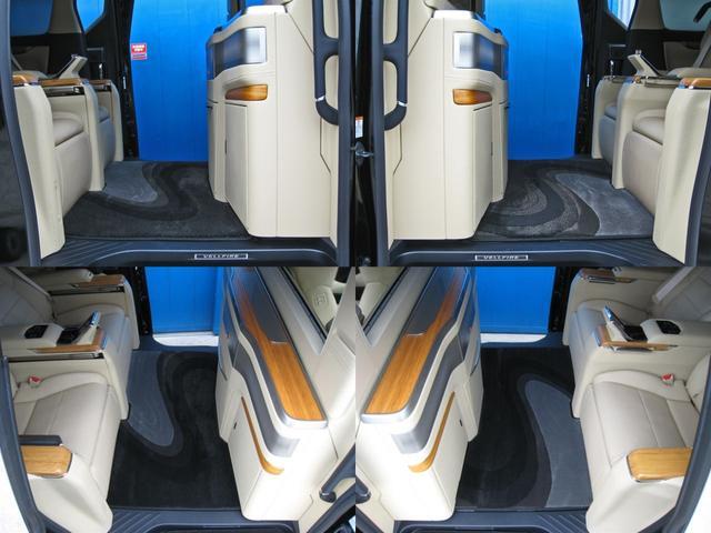 ロイヤルラウンジSP 4WD フルパーテーション液晶調光リヤシェードエクストラキャビネット冷蔵庫リヤエンターテイメント24型TVロイヤルラウンジ専用VIPリラクゼーションシート集中コントロールタッチパネルモデリスタエアロ(71枚目)