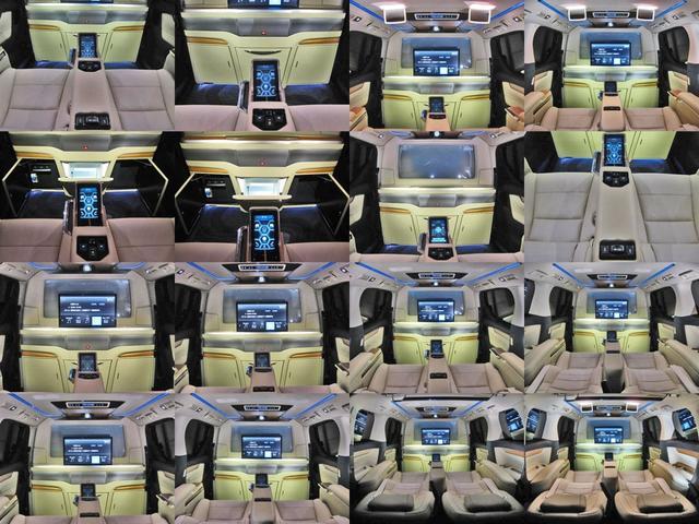 ロイヤルラウンジSP 4WD フルパーテーション液晶調光リヤシェードエクストラキャビネット冷蔵庫リヤエンターテイメント24型TVロイヤルラウンジ専用VIPリラクゼーションシート集中コントロールタッチパネルモデリスタエアロ(78枚目)