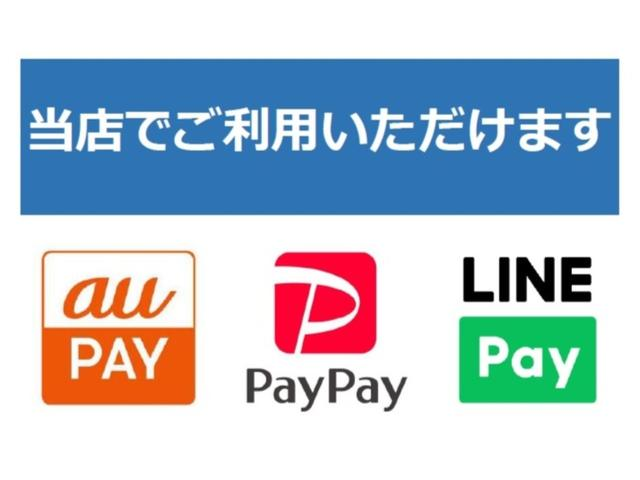 PayPay、LINEPay、auPAY、クレジットカードご利用可能!!