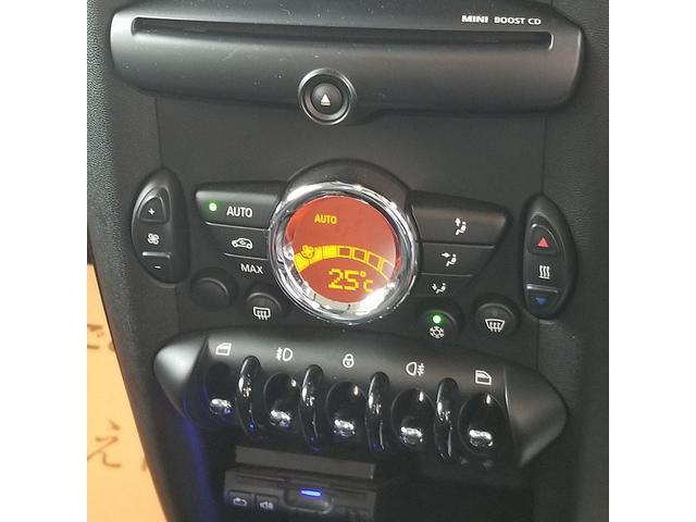 クーパーS GIGAMOTフロントリップ サンルーフ クルーズコントロール ハーフレザー ステアリングスイッチ ETC HIDヘッド フォグライト センターメーター オートエアコン プッシュスタート(33枚目)