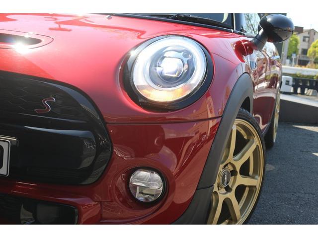 3ドア COOPER S GIGAMOTフロントリップ&テールピース H&Rダウンサス RAYS18インチアルミ 純正HDDナビ フルセグTV ミラーETC LEDヘッドライト オートライト アイドリングストップ MTモード(20枚目)