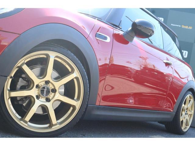 3ドア COOPER S GIGAMOTフロントリップ&テールピース H&Rダウンサス RAYS18インチアルミ 純正HDDナビ フルセグTV ミラーETC LEDヘッドライト オートライト アイドリングストップ MTモード(21枚目)